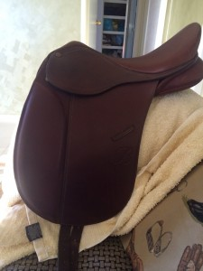 """Childs 15\"""" Brown Esperence Show Saddle"""