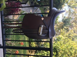 Bates Brown leather dressage saddle (16.5inch)